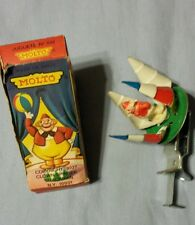 Vintage Spain Molto the Clown Spinning wind windup toy with original box