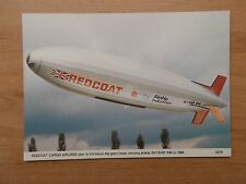 AIRCRAFT POSTCARD - REDCOAT CARGO AIRLINES SKYSHIP R40 AIRSHIP
