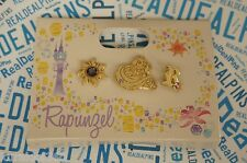 Japan Disney Store Trading 3 Pin Set - Princess Rapunzel Gold Jewels Gems 102443