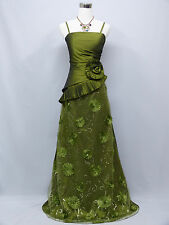 Cherlone Green Ballgown Bridesmaid Formal Wedding/Evening Full Length Dress 14