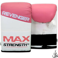 Ladies Boxing Pink Bag Mitts Grappling Gloves Womens Fight Training Muay Thai