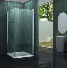 BANHO-ONE 90 x 90 Duschtasse Glas Duschkabine Pendeltür Dusche Duschabtrennung