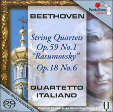 Beethoven: String Quartets Op. 59 No. 1 [SACD], New Music