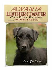 Fell Terrier 'Love You Dad'  Single Leather Photo Coaster Animal Breed, DAD-29SC