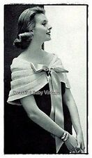 Vintage 1950s Ladies Stole Pleat Evening Stole Cape Shawl KNITTING PATTERN COPY