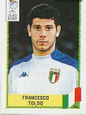 N°186 FRANCESCO TOLDO ITALY ITALIA PANINI EURO 2000 STICKER VIGNETTE CHROMO