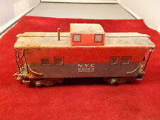 OLD VTG ANTIQUE MODEL RAILROAD CAR, TIN NYC 20102 RED/GREY CABOOSE, SEE PICS