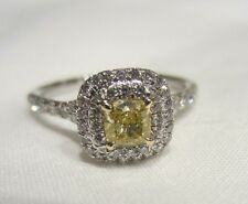 TIFFANY & CO FANCY YELLOW VIVID INTENSE DIAMOND SOLESTE RING 6