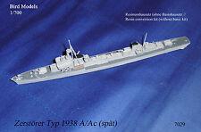 Destructor tipo 1938 a/ac (tarde) 1/700 Bird models resinumbausatz/resin conversion