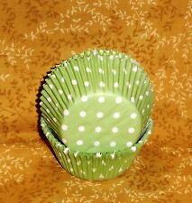 Green,Polka Dots,Cupcake Papers,Wilton,415-0154, 75 ct. Wedding,Spring Party