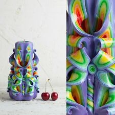Christmas presents Carved candle, Candels carving, Vanity lights, votivo candles