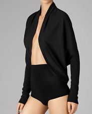 WOLFORD FINE MERINO CARDIGAN JACKET, SMALL, BLACK, 100% VIRGIN WOOL, New in box