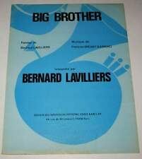 Partition vintage sheet music BERNARD LAVILLIERS : Big Brother * 1977