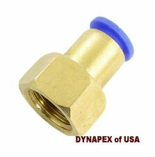 """8mm or 5/16"""" OD to 1/4"""" BSPP Female Straight Push In Connect Tube Fitting P-3i"""