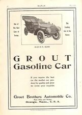 1907 GROUT TOURING ORIG VINTAGE  CAR  AD