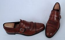 Prada Kiltie Monk Strap Loafer- Brown Calf- Size 10.5 US/ 9.5 UK  $990  (W7)