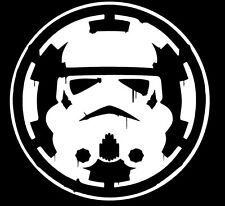 storm trooper over empire star wars decal car window sticker