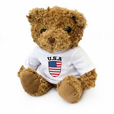 NEW - USA Flag Teddy Bear - USA Fan Gift Present - United States Of America