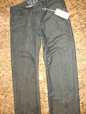 MENS NWT GUESS JEANS LOS ANGELES  LOW RISE STRAIGHT LEG W32 L32 DARK DISTRESSED