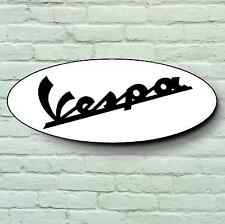 VESPA logo 2 pi grand garage signe plaque scooter cyclomoteur PK GTS GT PK mods