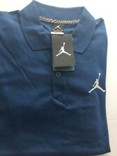 RET$50 NWT Nike Air Jordan Jumpman Polo Shirt Dri Fit MEDIUM Blue 688580 Men's