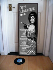 AMY WINEHOUSE REHAB PROMOTIONAL POSTER LYRIC SHEET,JAZZ,FRANK,BACK TO BLACK,BLUE