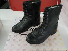 GIRLS SIZE 13 CANDIES BLACK LACE UP WITH SIDE ZIP ANKLE BOOTS  NEW NIB 43sh