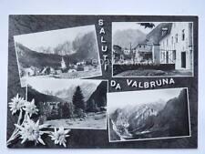 Saluti da VALBRUNA Trattoria Udine vecchia cartolina