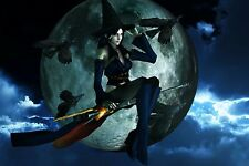 Halloween Decoration Ghosts Pumpkin SEXY WITCH WOMAN FRIDGE MAGNET #5