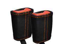 Orange stitch fits Lotus Elise Exige S2 01-12 2x ceinture en cuir tige couvre