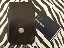 Genuine FRED PERRY L9155 Phone Case Leather Universal & iPhone Sleeve Pouch BNWT