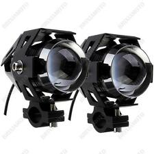 COUPLE BLACK SPOT LIGHTS BLACK LED CREE 15W BMW R1200GS R 1200 GS ADVENTURE HP2