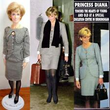 "Princess Diana Franklin Mint 16"" Vinyl Doll Custom Black White Houndstooth Suit"