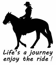 HORSE DECAL STICKER LIFE'S A JOURNEY BRAND NEW FOR CAR,FLOAT,TACK,4WD #HS299