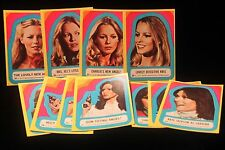 1977 Charlies Angels Lot of 11 Sticker Card Set  Topps Series #3 Mint