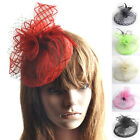 Handmade Women Hair Clip Accessory Ball Fascinator Occasion Hat Feather Barrette