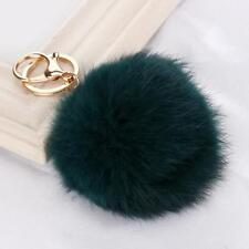 Fashion Keychain with Plush Cute Rabbit Fur Key Chain Bags Hanging Accessories