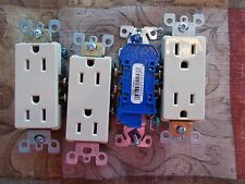 NEW Leviton 1107V Lot of 4 Ivory Duplex Receptacle Outlets *FREE SHIPPING*