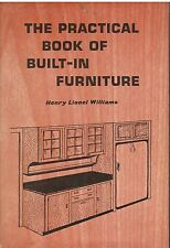 PRACTICAL BOOK OF BUILT-IN FURNITURE Henry Williams Diagrams 124 pgs index HC DJ