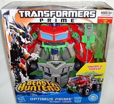 Transformers Prime Voyager Class Beast Hunters Optimus Prime Figure MIB RARE Toy