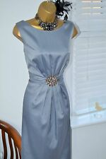 Stunning ⭐️ Jessica Howard ⭐️ Silver Grey Blue Jewelled Dress Size 16 14 Wedding
