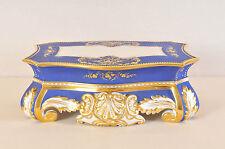 Antique Porcelain Blue-Gilded Pedestal, Baroque style, Wien, 1837