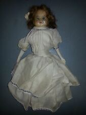 """22"""" Vintage Wax Face Doll with cloth body"""