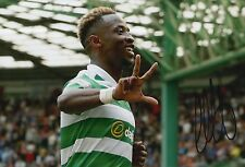 CELTIC HAND SIGNED MOUSSA DEMBELE 12X8 PHOTO PROOF.