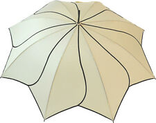 Blooming Brollies Swirl Auto Stick Umbrella - Beige