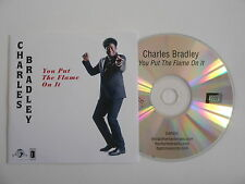 CHARLES BRADLEY : YOU PUT THE FLAME ON IT [ CD PROMO ] ~ PORT GRATUIT !