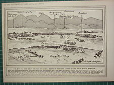 1915 WWI WW1 PRINT ~ END OF GENERAL BEYERS LEADER OF SOUTH AFRICAN REBELLION