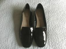 Women's black shiny slip on extra comfort shoes BN size 9 wide fit