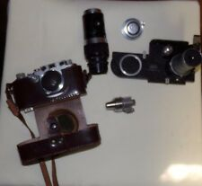 VINTAGE? LEICA CAMERA WITH CASE AND MISC PARTS