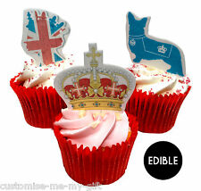 9 Royal Queen Corgi Birthday Crown Edible Pop Top Cupcake Toppers decorations